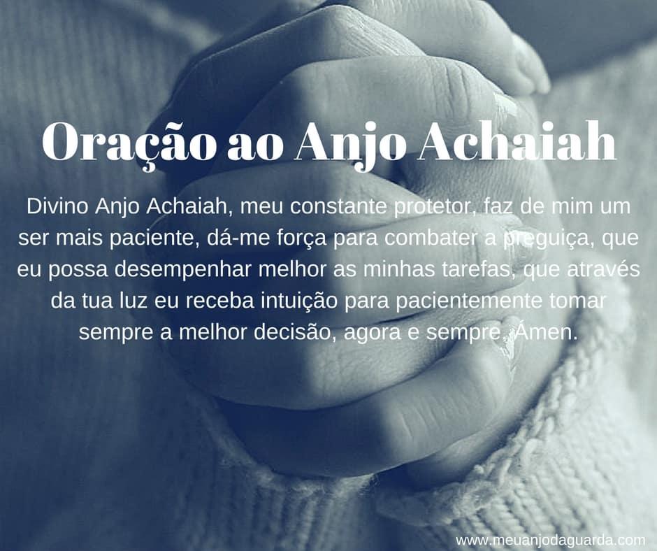 Oração ao Anjo Achaiah