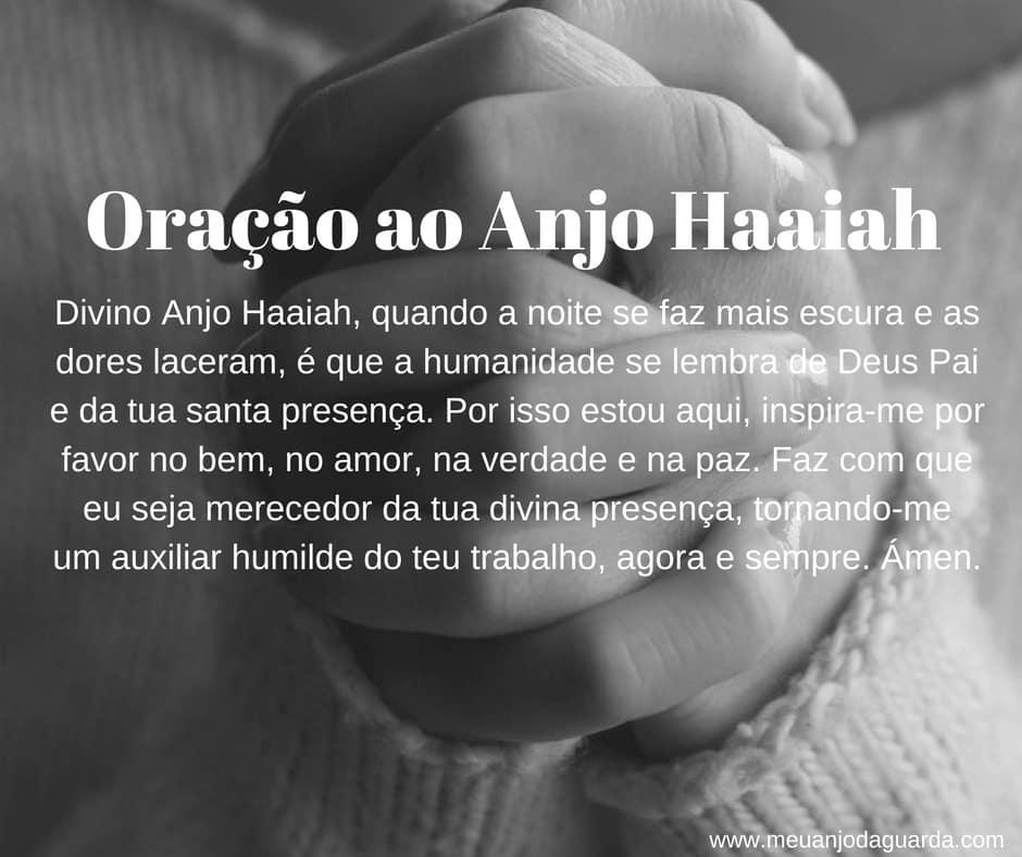 Oração ao Anjo Haaiah