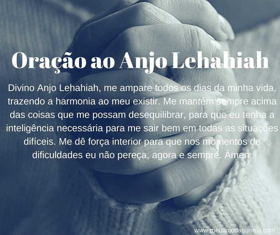 Oração ao Anjo Lehahiah