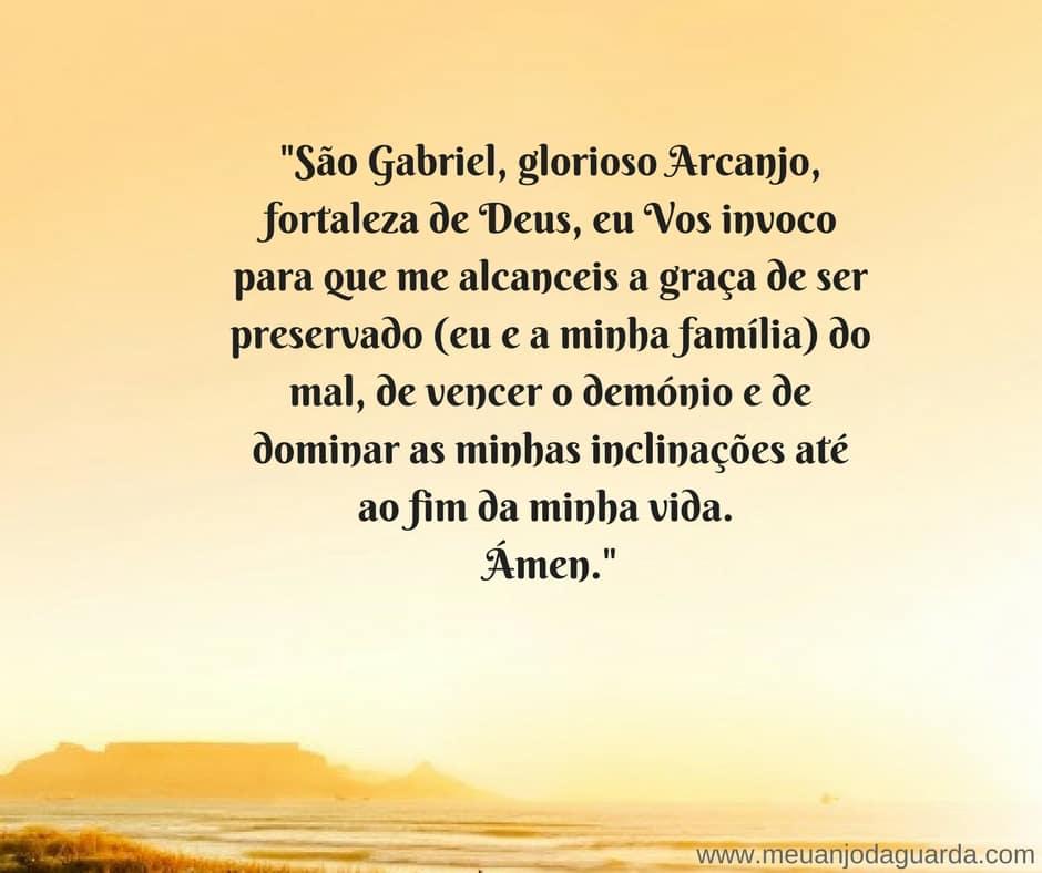 oração ao arcanjo gabriel