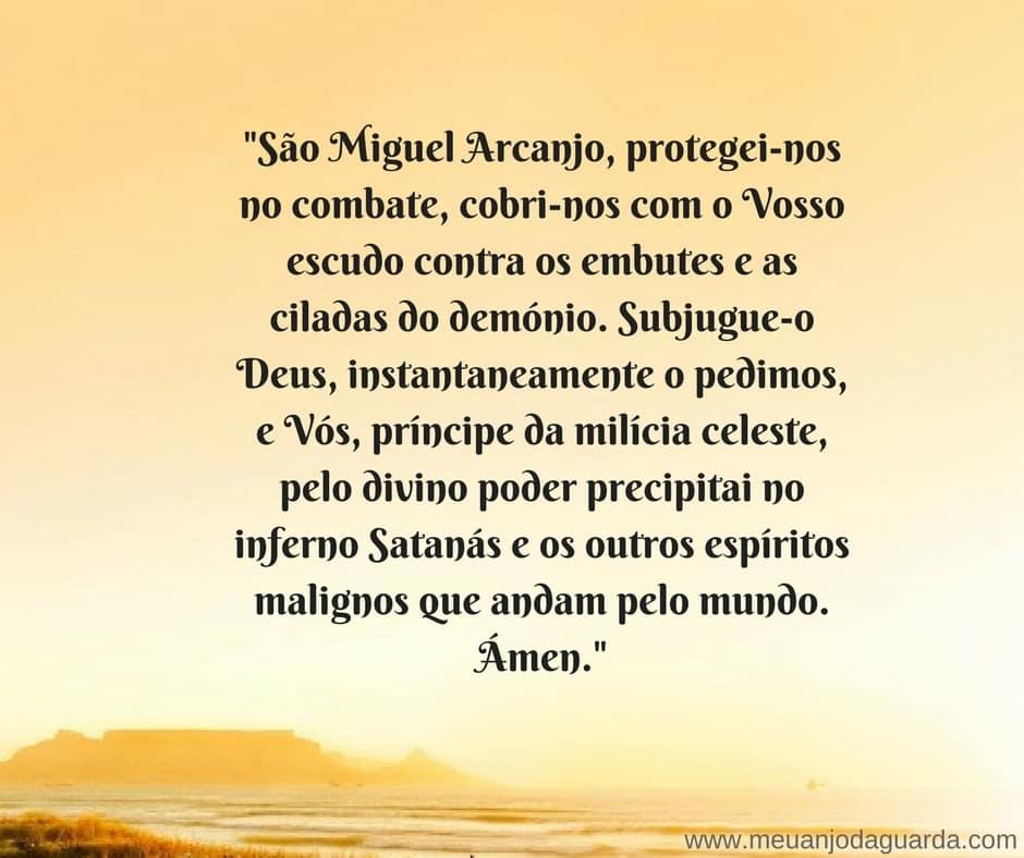 oração ao arcanjo miguel