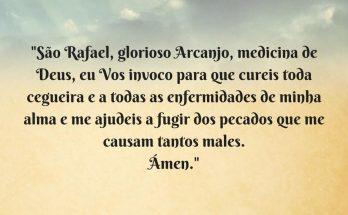 oração ao arcanjo rafael
