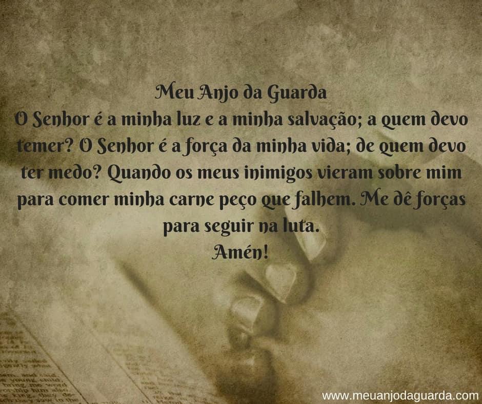 oração contra o medo