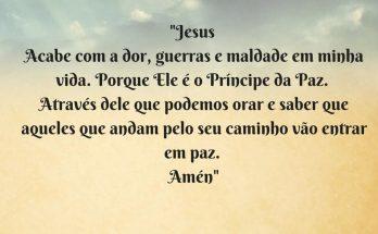 oração para ter paz
