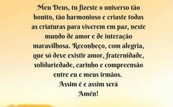 oração pelos irmãos