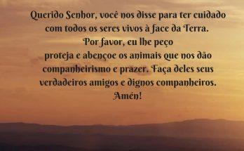 oração dos animais